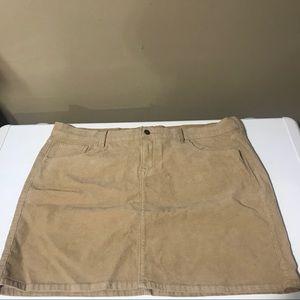 2 Corduroy miniskirt